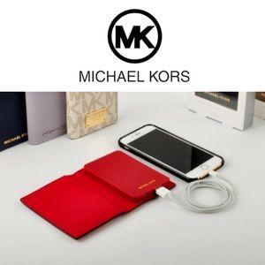 🆕 Phone Charging Wallet MICHAEL KORS Red